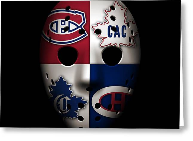 Goalie Greeting Cards - Montreal Canadiens Greeting Card by Joe Hamilton