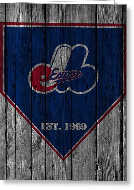 Montreal Expos Greeting Card by Joe Hamilton
