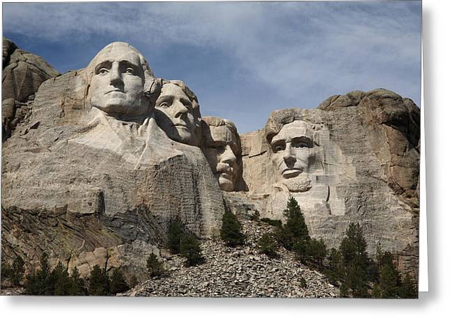 President Prints Greeting Cards - Mount Rushmore Greeting Card by Frank Romeo