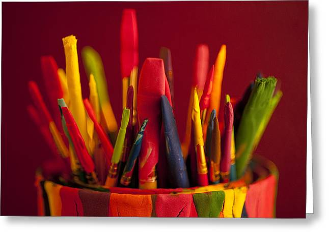 Tool Chest Greeting Cards - Multi colored paint brushes Greeting Card by Jim Corwin