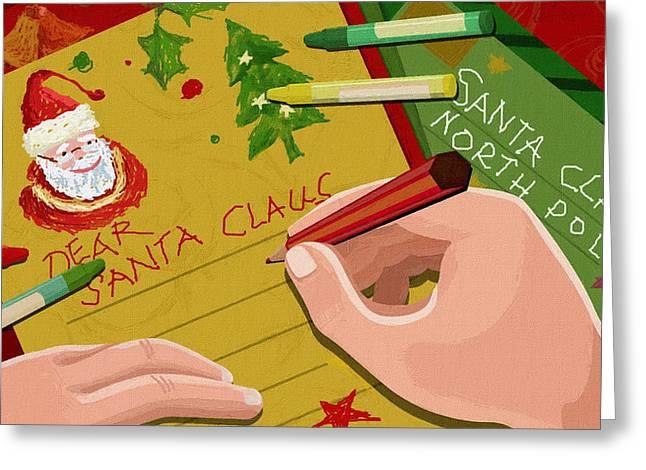 New Year Greeting Cards - New Year Greeting Card Greeting Card by Victor Gladkiy