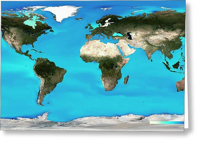 Ocean Surface Ph Greeting Card by Noaa