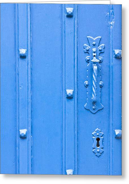 Shed Photographs Greeting Cards - Old door Greeting Card by Tom Gowanlock