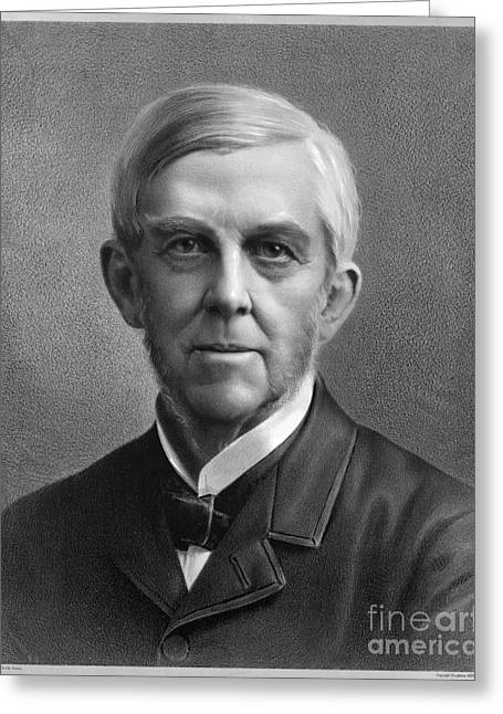 Sideburns Greeting Cards - Oliver Wendell Holmes (1809-1894) Greeting Card by Granger