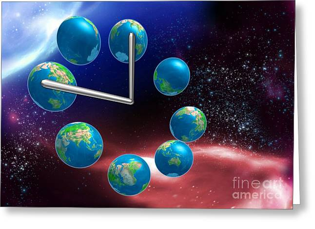 Parallel Universe Greeting Cards - Parallel Universes, Conceptual Artwork Greeting Card by Victor Habbick Visions