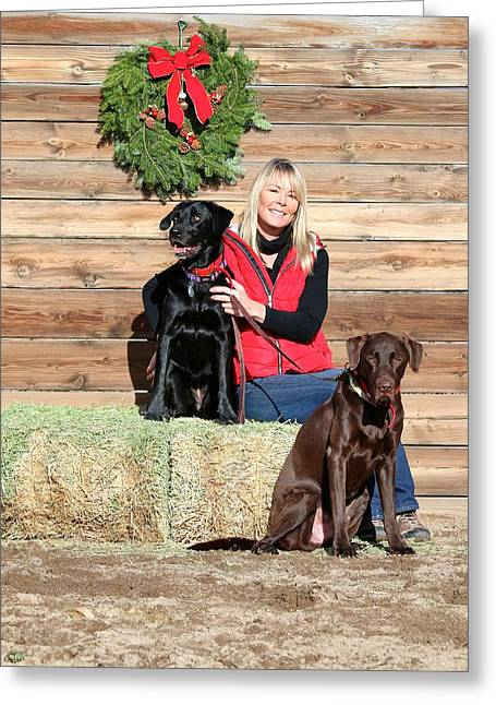 Love The Animal Greeting Cards - 6. Pet Portrait Holiday Fundraiser Greeting Card by Maria Jansson