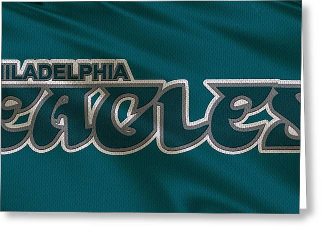 Philadelphia Eagles Greeting Cards - Philadelphia Eagles Uniform Greeting Card by Joe Hamilton