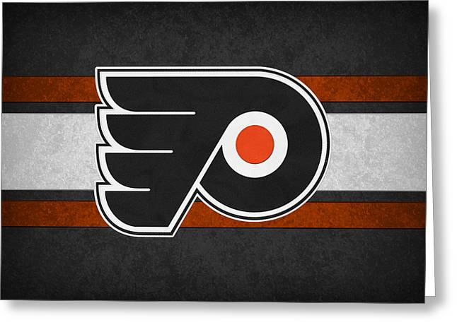 Goals Greeting Cards - Philadelphia Flyers Greeting Card by Joe Hamilton