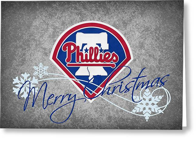 Phillies Greeting Cards Greeting Cards - Philadelphia Phillies Greeting Card by Joe Hamilton