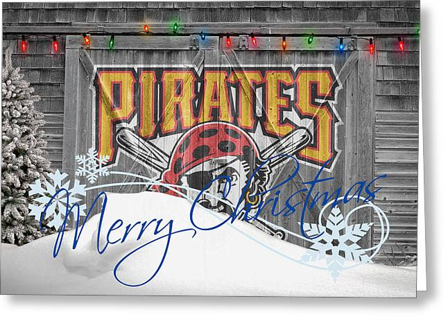 Baseball Field Greeting Cards - Pittsburgh Pirates Greeting Card by Joe Hamilton