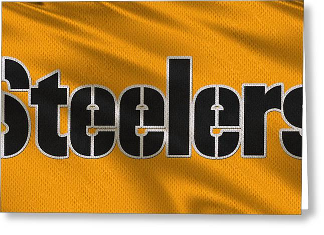Pittsburgh Greeting Cards - Pittsburgh Steelers Uniform Greeting Card by Joe Hamilton