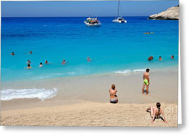 Islands Greeting Cards - Porto Katsiki beach Greeting Card by George Atsametakis