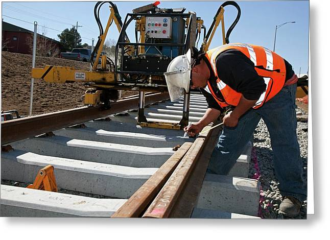 Railway Construction Greeting Card by Jim West