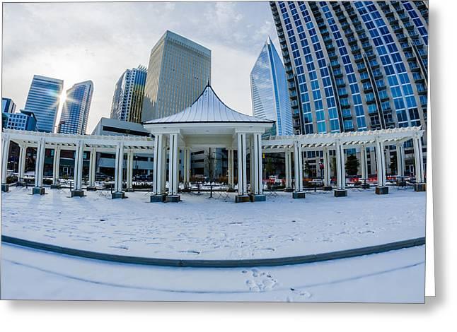 Charlotte Greeting Cards - Rare Winter Scenery Around Charlotte North Carolina Greeting Card by Alexandr Grichenko