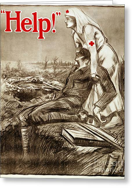 Red Cross Poster, C1917 Greeting Card by Granger