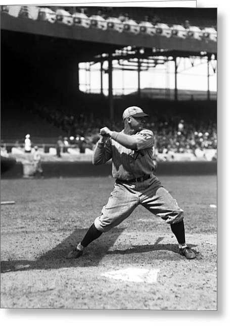 Baseball Bat Greeting Cards - Robert A. Bob OFarrell Greeting Card by Retro Images Archive