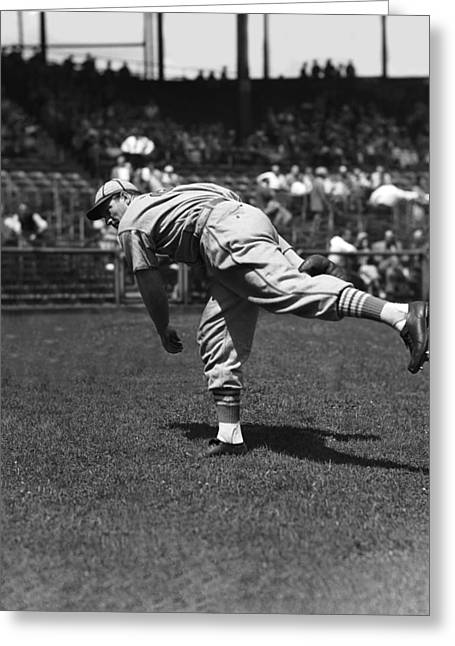 Baseball Game Greeting Cards - Robert G. Bob Weiland Greeting Card by Retro Images Archive
