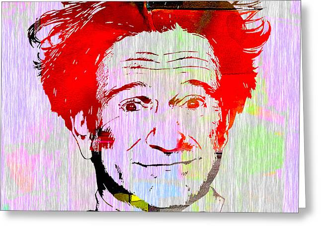 Comic Greeting Cards - Robin Williams Art Greeting Card by Marvin Blaine