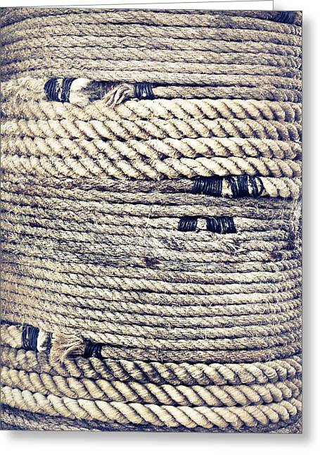 Various Greeting Cards - Rope Greeting Card by Tom Gowanlock