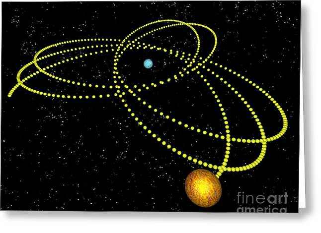 Rosette Greeting Cards - Rosetta Orbit Around Black Hole, Artwork Greeting Card by Russell Kightley