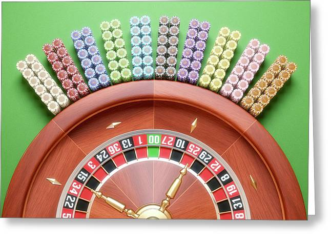 Roulette Wheel Greeting Card by Ktsdesign