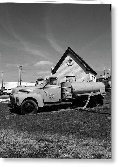 Mclean Greeting Cards - Route 66 - McLean Texas Greeting Card by Frank Romeo