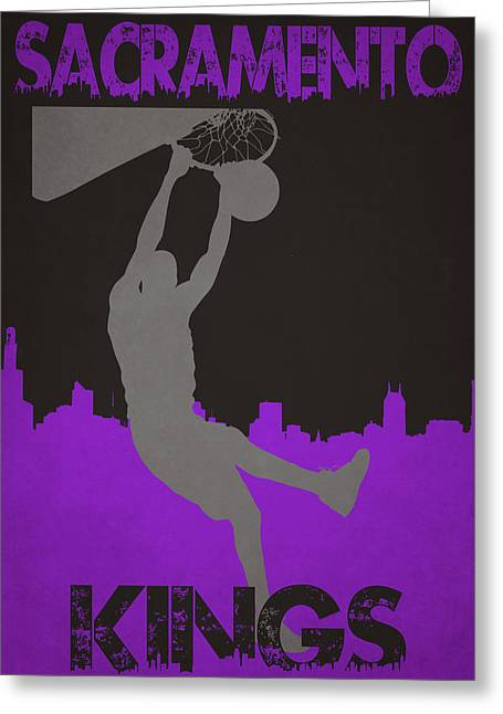 Division Greeting Cards - Sacramento Kings Greeting Card by Joe Hamilton