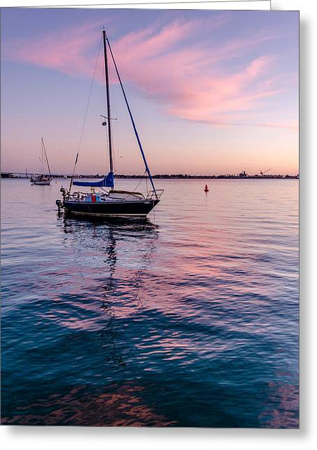 Photogaph Greeting Cards - San Diego Bay Sunset Series Greeting Card by Josh Whalen