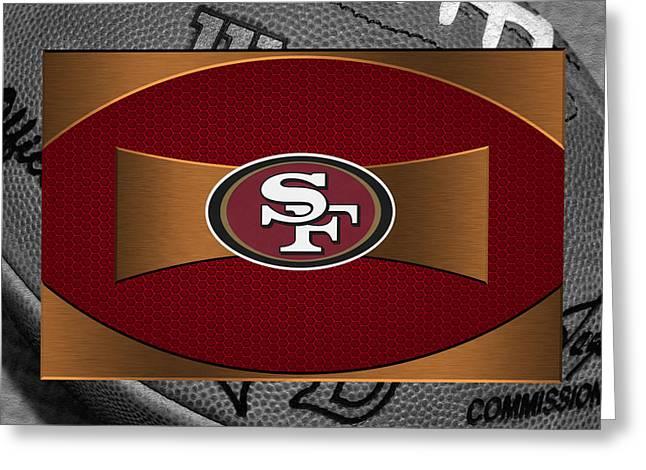 Offense Greeting Cards - San Francisco 49ers Greeting Card by Joe Hamilton