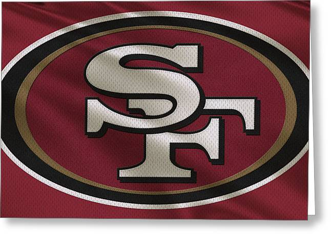 Team Greeting Cards - San Francisco 49ers Uniform Greeting Card by Joe Hamilton