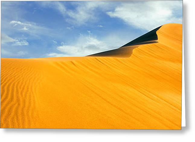 Sand Dunes National Park Greeting Cards - Sand Dunes In A Desert, Great Sand Greeting Card by Panoramic Images