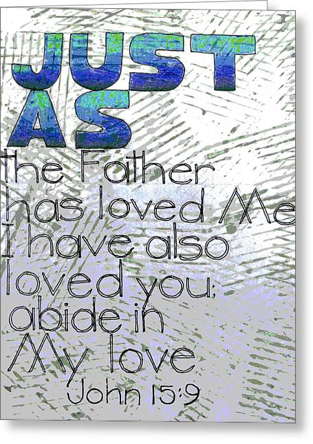 Scripture Mixed Media Greeting Cards - Scripture Series Greeting Card by Ginger Geftakys