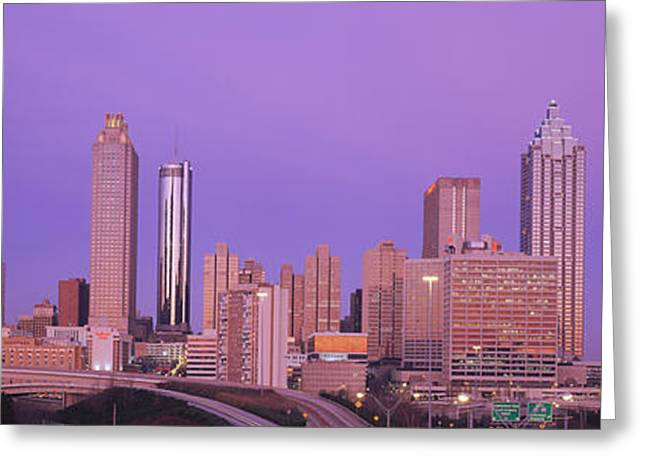 Fulton Greeting Cards - Skyscrapers In A City, Atlanta Greeting Card by Panoramic Images