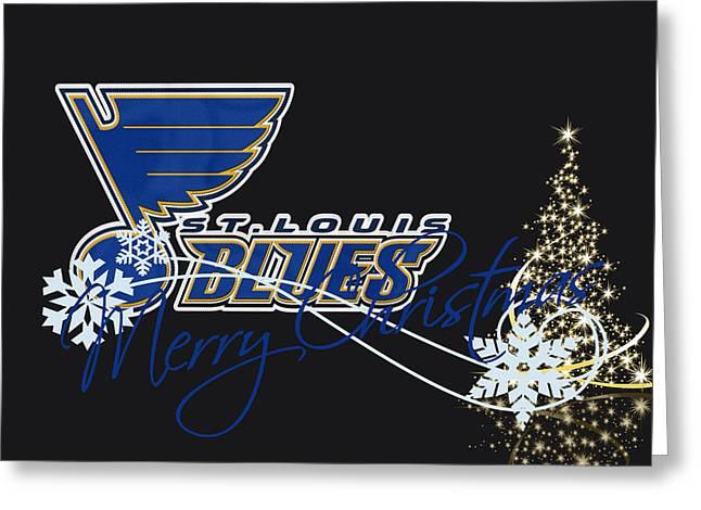 Skates Greeting Cards - St Louis Blues Greeting Card by Joe Hamilton