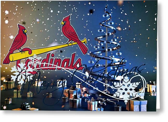 St Louis Cardinals Greeting Cards - St Louis Cardinals Greeting Card by Joe Hamilton