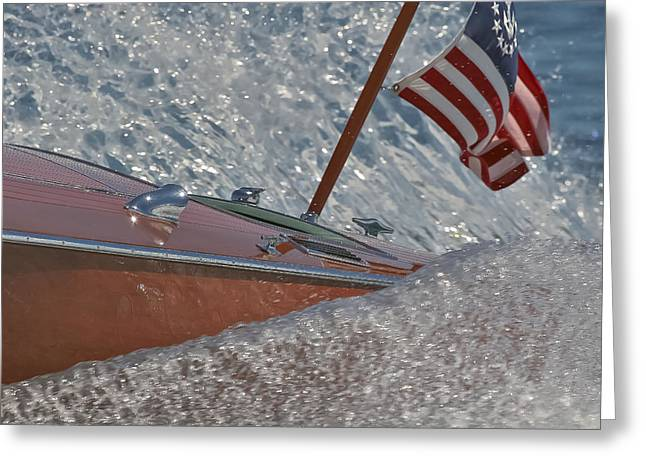 Mahogany Greeting Cards - Stars and Stripes Greeting Card by Steven Lapkin
