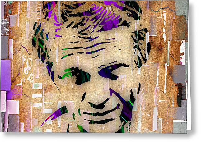 Steve Mcqueen Greeting Cards - Steve McQueen Collection Greeting Card by Marvin Blaine