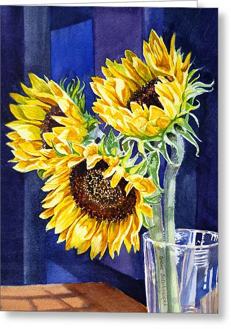 Mother Gift Greeting Cards - Sunflowers Greeting Card by Irina Sztukowski