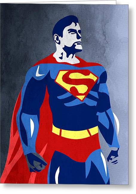 Superman  Greeting Card by Mark Ashkenazi