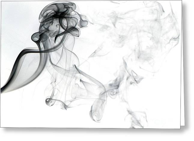 Abstract Movement Greeting Cards - Swirling Smoke Greeting Card by Scott Camazine