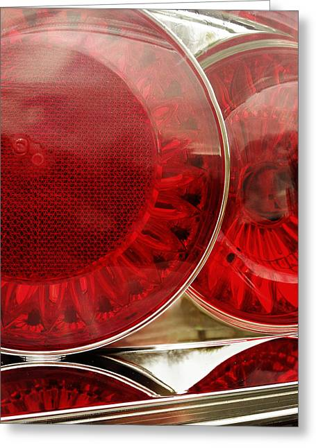 Stylish Car Greeting Cards - Tail lights Greeting Card by Les Cunliffe