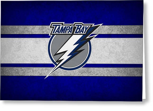 Skates Greeting Cards - Tampa Bay Lightning Greeting Card by Joe Hamilton