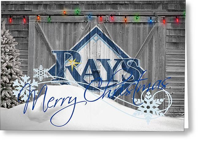 Baseball Field Greeting Cards - Tampa Bay Rays Greeting Card by Joe Hamilton