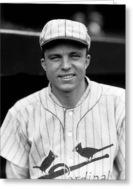 National League Baseball Photographs Greeting Cards - Taylor L. Douthit Greeting Card by Retro Images Archive