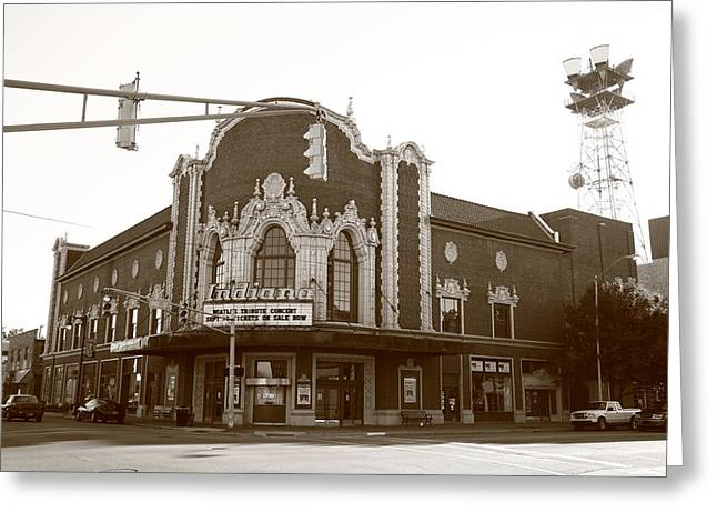 Indiana Scenes Greeting Cards - Terre Haute - Indiana Theater Greeting Card by Frank Romeo