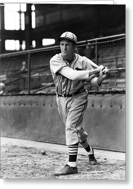 Baseball Bat Greeting Cards - Terry B. Moore Greeting Card by Retro Images Archive
