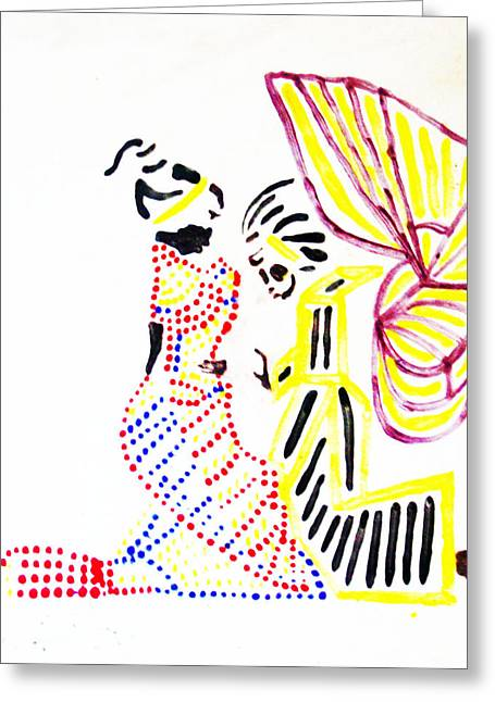 Ugandan Ceramicist Greeting Cards - The Annunciation Greeting Card by Gloria Ssali