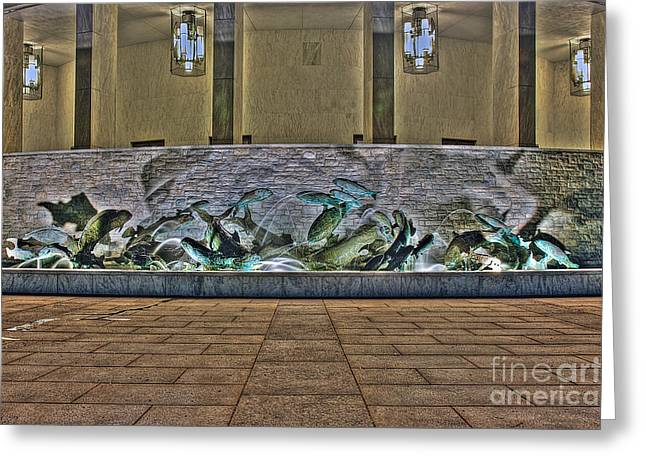 Mhs Greeting Cards - The Fountain at Founders Hall Greeting Card by Mark Dodd