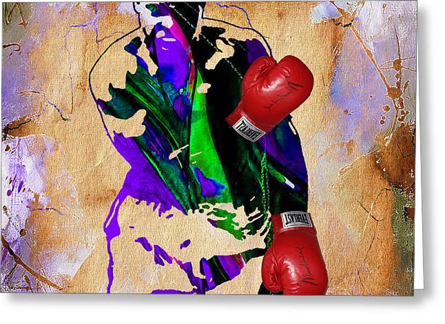 Cassius Clay Greeting Cards - The Greatest Muhammad Ali Greeting Card by Marvin Blaine