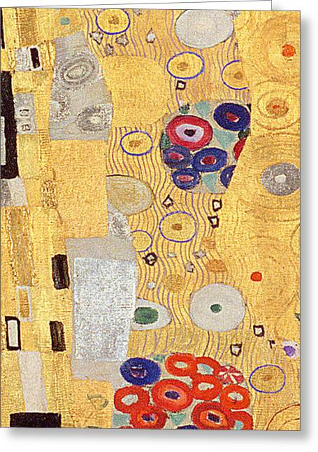 Austria Paintings Greeting Cards - The Kiss Greeting Card by Gustav Klimt